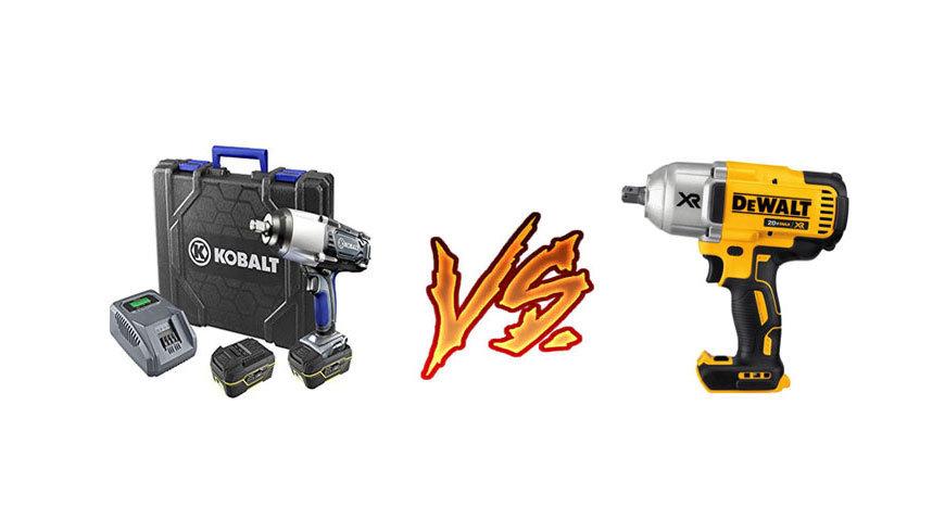 kobalt vs dewalt vs milwaukee impact wrench driver - powertoollab