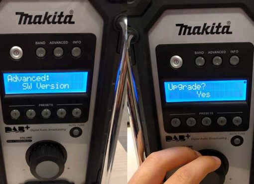 Makita dab radio software upgrade