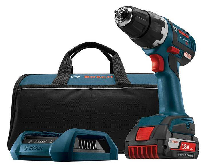 Bosch DDS182WC-102 18-Volt Lithium-Ion Wireless Charging Kit with Brushless Drill