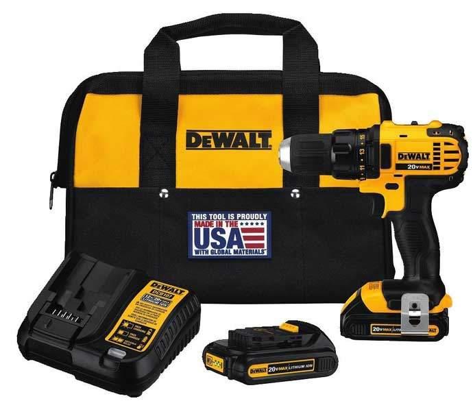DEWALT DCD780C2 20 Volt Compact Drill