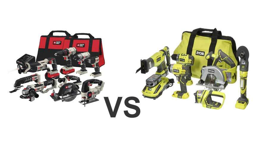 Porter Cable Vs Ryobi Impact Wrench And Saw Drill Press Angle Grinder Comparison