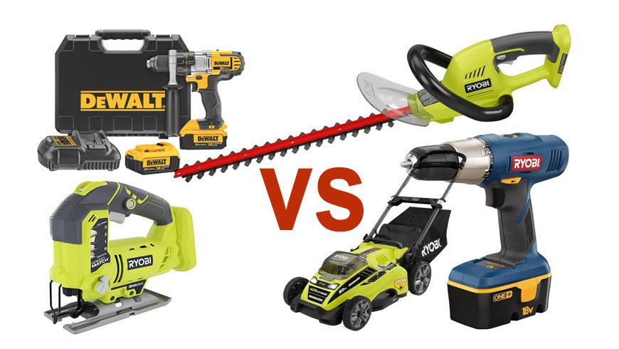 Ryobi Vs Bosch Drill And Lawn Mower Jig Saw Hedge Trimmer Comparison