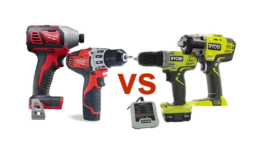 Ryobi Vs Milwaukee Battery And Impact Driver Cordless Drill Comparison